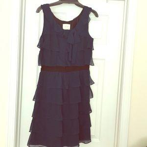 KATE SPADE Tiered Ruffle Chiffon Dress - 4